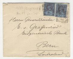 Grossbritannien Michel No. 89 auf Brief