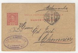 Portugal Ganzsache gebraucht 1901