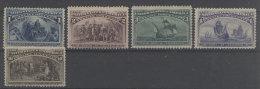 USA Michel No. 73 - 76 ** postfrisch / No. 80 * ungebraucht b�gig
