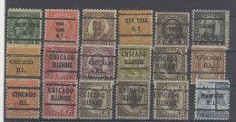 Lot USA  gestempelt used / 18 Werte