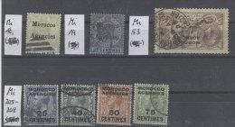 Lot Grossbritannien Auslandspost Morocco Agencies Michel No. 16 , 19 , 53 , 205 - 208 gestempelt used