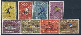 Lot Liechtenstein Michel No. 551 - 554 , 556 - 559 ** postfrisch