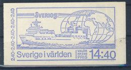 Schweden MH mit 1160 - 1165 Blatt No. 111 gestempelt used