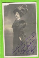 Dona Mativa  Premi�re dugazon 12 f�vrier 1904 Th�atre Royal d'Anvers Autographe