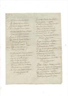 CHANSON.LE TONNELIER.2 Folios.fin 18e - Début 19e Siècle. - Manuscrits
