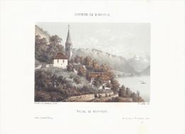 Schweiz Litho Eglise De  Montreux / Romandie  1855 DOP - Lithographies