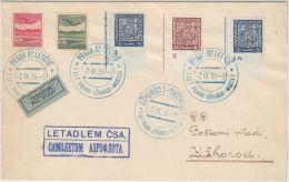 24176 1st Flight PRAHA UZHOROD MOSCOW 1936 - GF - Tchécoslovaquie