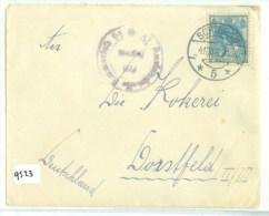 BRIEFOMSLAG Uit 1918 Van SCHIEDAM Naar DORSTFELD DEITSCHLAND (9523) - Periode 1891-1948 (Wilhelmina)