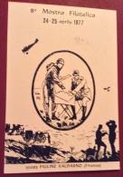 POSTA AEREA -  FIGLINE VALDARNO  1977 - ONORANZE A VITTORIO LOCCHI - CARTOLINA ED ANNULLO SPECIALE - Luftpost