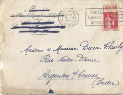 Courrier Enveloppe Publicitaire Ministère Postes Télégraphes Té Timbre Paix 50c Rouge LE JOURNAL DE L´ELITE L´ART VIVANT - 1932-39 Paix