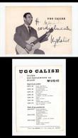 Cartolina Fotografica Autografata UGO CALISE - Autografi
