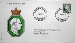 Denmark 1961 MiNr.392x   King  Frederik IX. FDC ( Lot  1057 ) FOGHS  COVER - FDC