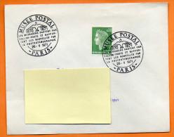 PARIS  MUSEE POSTAL    26 / 5 / 1971 Lettre Entière N° I 950 - Commemorative Postmarks
