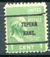 U.S.A. - Préoblitéré - Precancel - TOPEKA - KANSAS - Stati Uniti
