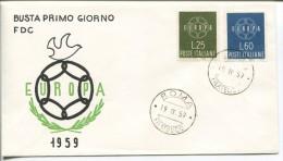 Italy - Europa FDC, 1959 - Europa-CEPT