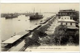 Carte Postale Ancienne Egypte - Port Saïd. Le Port Et Le Quai François Joseph - Bateaux - Mit Ghamr