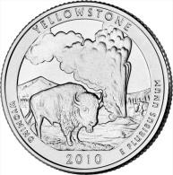 "USA QUARTER (1/4 Dollar) 2010 P Mint ""YELLOWSTONE"" UNC - 2010-...: National Parks"
