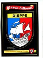 CP - DIEPPE (76) BLASON ADHESIF AUTOCOLLANT - Dieppe