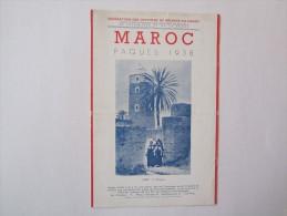 PUBLICITÉ Maroc Pâques 1938 Tiznit La Mosquée Fédération Des Officiers De Réserve De Casablanca Militaire Militaria - Advertising