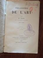 PHILOSOPHIE DE L'ART Par H. TAINE  Tome I 14 édition, 1913 - Livres, BD, Revues
