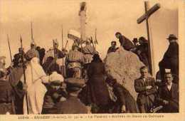 07  BURZET Alt 530m La Passion Arrivee De Jesus Au Calvaire - France
