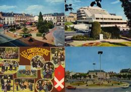 Cholet Lot De 4 CPM De La Ville Années 70 à 80 ...travot Republique Hotel De Ville Groupe Folklorique - Cholet