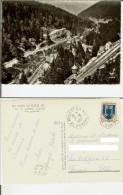 Le Lioran: Vue Générale. Carte Postale B/n 10,5x15 Voyagée 1967 (timbre, Obliteration Le Roucet) - Autres Communes