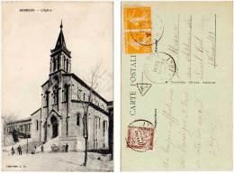 Bessèges - L'église ( Tampon Et Timbre Taxe Au Verso ) - Bessèges