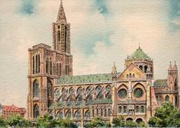 STRASBOURG 67 LA CATHEDRALE  COTE SUD SIGNE BARDAY - Kerken En Kathedralen