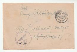 1944 Schwabisch Gmund GERMANY Feldpost AUs Btl 5 COVER  Forces Military - Cartas