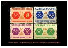 CUBA/KUBA 1962 IX JUEGOS CENTROAMERICANOS Y DEL CARIBE MNH - Kuba