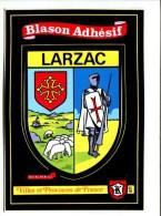CP - LARZAC (12) BLASON ADHESIF AUTOCOLLANT - France