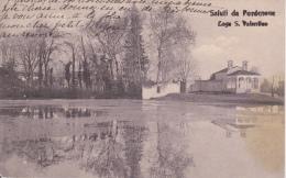 PORDENONE - LAGO SAN VALENTINO - CARTOLINA VIAGGIATA NEL 1921 - Pordenone