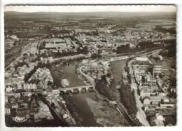 CPSM EPINAL (Vosges) - Vue Panoramique Aérienne : La Moselle, Au Fond Golbey - Epinal