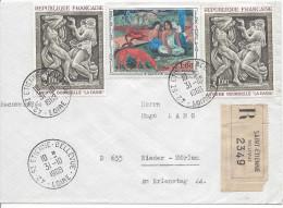 Recommandé St Etienne Bellevue 1968 Pour Allemagne Timbres 2ex La Danse Et Gauguin - Covers & Documents