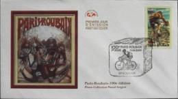 Enveloppe 1er JOUR 2002 - 100e Edition Paris - Roubaix - Le 13.04.2002 - - FDC