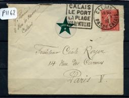 FRANCE LETTRE  ESPERANTO  DEPART DE CALAIS POUR PARIS  1932  A VOIR - Esperanto