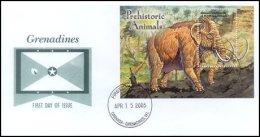Grenada Grenadines 2005 Souvenir Sheet Dinosaur Prehistoric #2601-Mammoth First Day Cover - Grenada (1974-...)