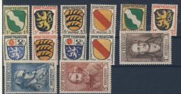 Franz�sische Zone Michel No. 1 - 13 ** postfrisch