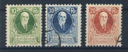 Liechtenstein Nr. 72 - 74 gestempelt used