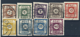Ost Sachsen Michel No. 42 - 50 gestempelt used