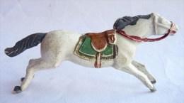 Figurine CYRNOS Far West INDIEN CHEVAL Blanc Type 2 50's Pas Starlux Clairet (1) - Starlux