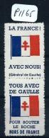 FRANCE 2 VIGNETTES DE GAULLE  SE TENANT  A VOIR NEUFS SANS CHARNIERES  LUXE - Commemorative Labels