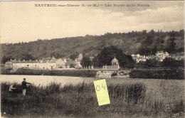 NANTEUIL Sur MARNE 77  Les Bords De La Marne  Animée Avec Pêcheurs - France