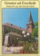 NL.- Ansichtkaart - Enschede.Groeten Uit Enschede. Gezicht Op De Grote Kerk. - Enschede