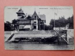 """Cpa 33 ARCACHON """"  Villa Hyowawa """" Boulevard De L Ocean  Photo Leo Neveu   ETAT - Arcachon"""