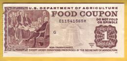 USA - U.S. Department Of Agriculture. Food Coupon. Value 1 Dollar. 1995 - Etats-Unis