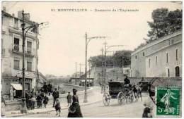 Montpellier - Descente De L'Esplanade ( Attelage ) - Montpellier