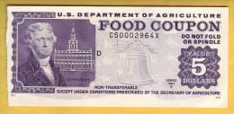 USA - U.S. Department Of Agriculture. Food Coupon. Value 5 Dollars. 1997 - Stati Uniti