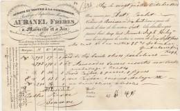 13 AIX EN PROVENCE MArseille FACTURE 1832 Roulage & Expéditions Maritimes AUBANEL Frères  - M9 - 1800 – 1899